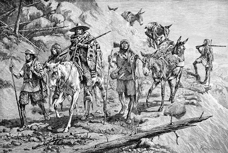 Fr 034 Pima Indians Convoying Silver in Mexico FredericReminton sqs. Frederick Remington