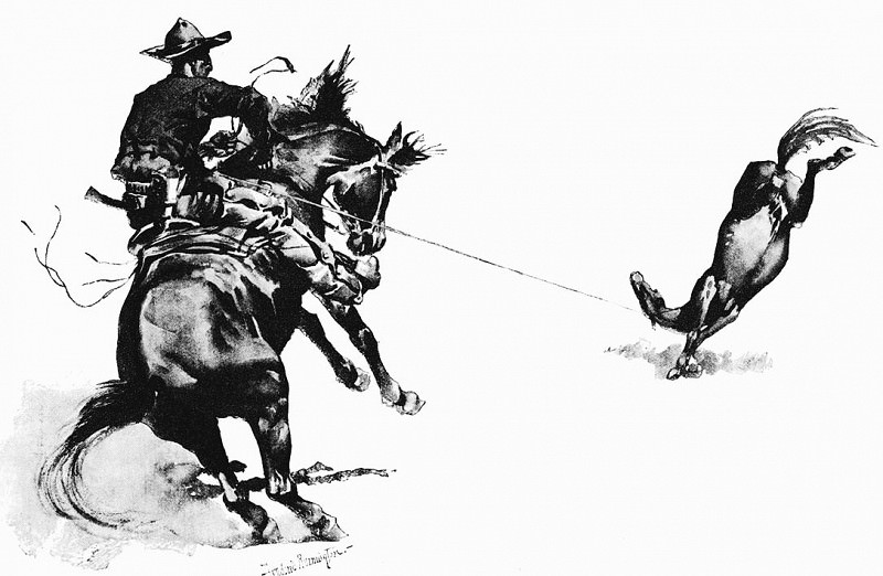 Fr 040 Reaction Equals Action FredericRemington sqs. Frederick Remington