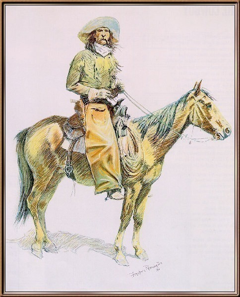 Remington An Arizona Cowboy-sj. Фредерик Ремингтон