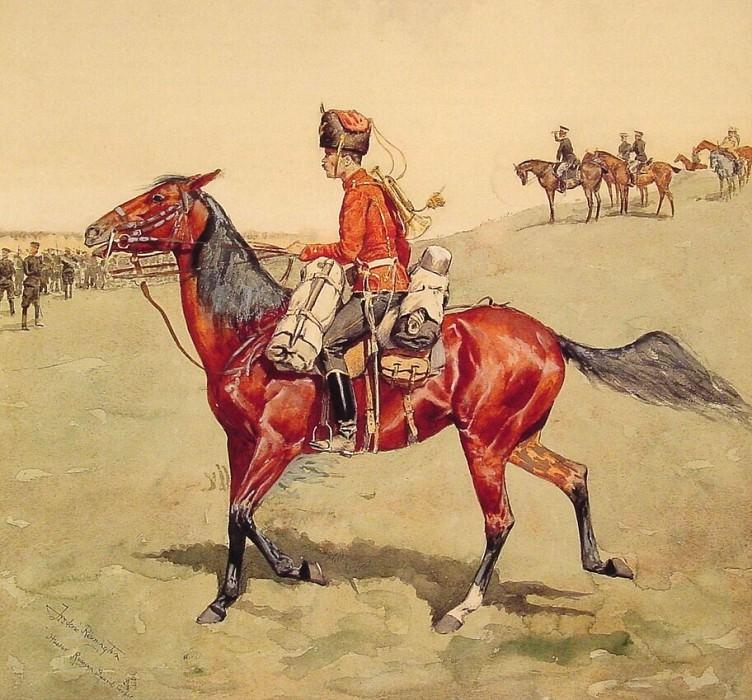 Hussar Russian Guard Corps. Фредерик Ремингтон