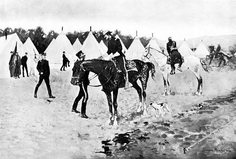 Fr 020 A Modern Cavalry Camp FredericRemington sqs. Фредерик Ремингтон
