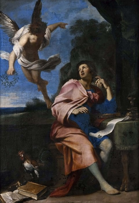 Allegory over Poetry. Giovanni Francesco Romanelli (Attributed)