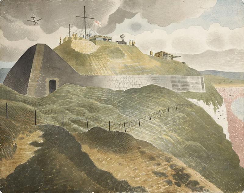 Coastal defences. Eric Ravilious