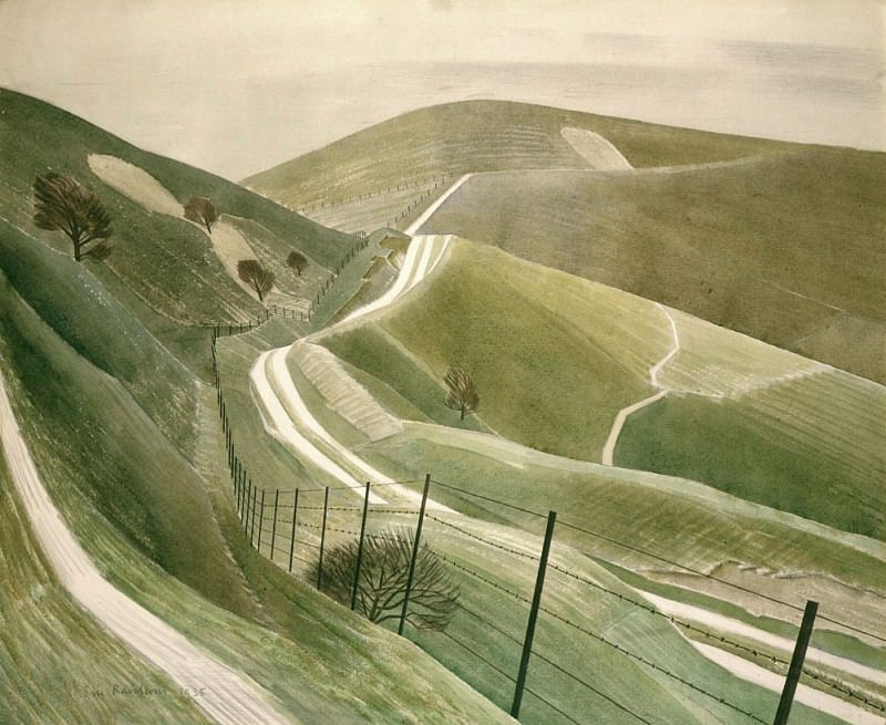 Chalk Paths. Eric Ravilious
