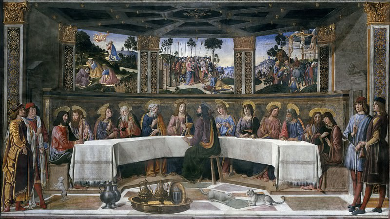 The Last Supper. Cosimo Rosselli