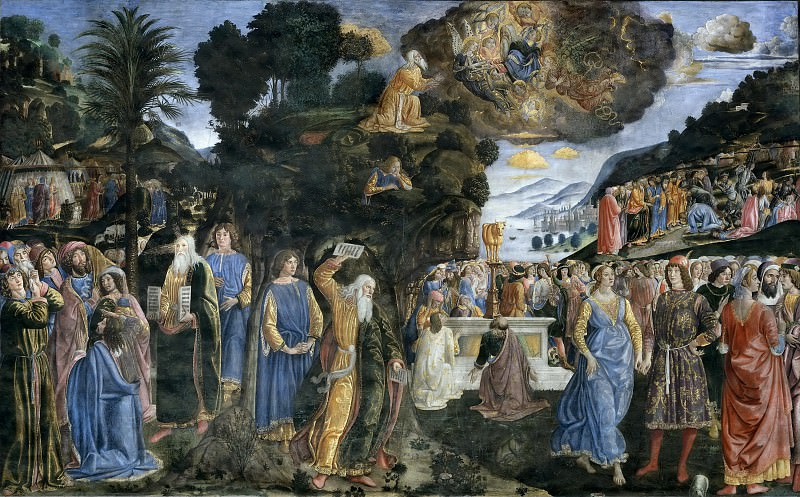 Tables of the Law with the Golden Calf. Cosimo Rosselli