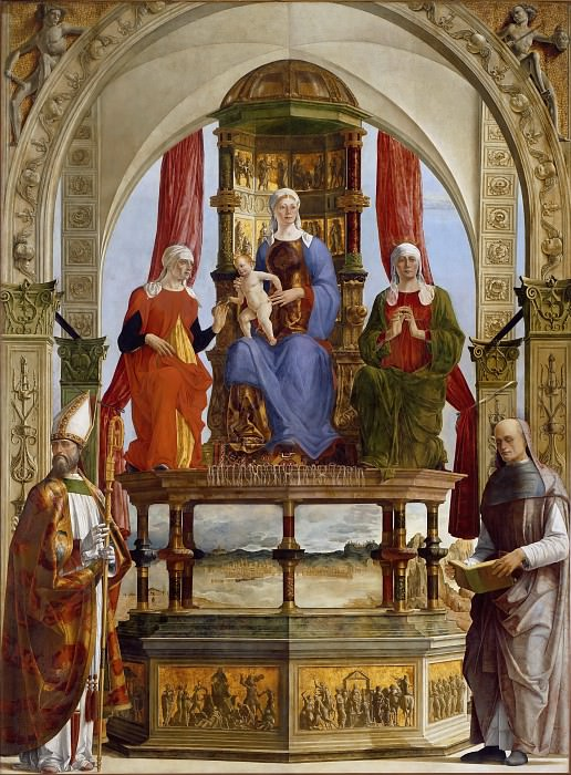 Madonna with Child and Saints. Ercole de Roberti