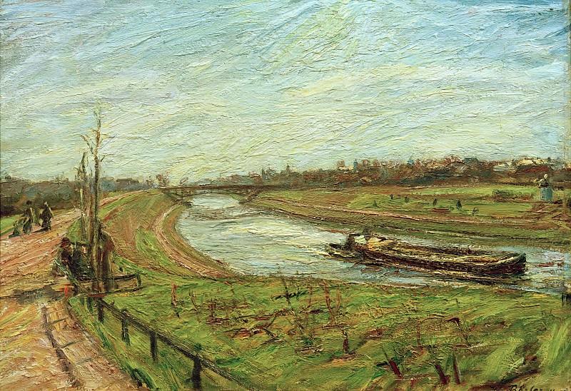 Landscape on the Teltow Canal. Waldemar Rosler