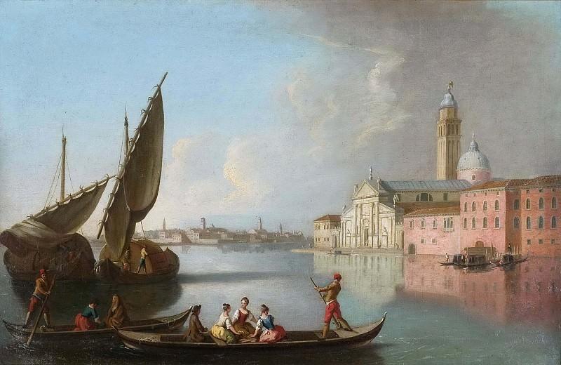 View of Venice with San Giorgio Maggiore. Johan Richter