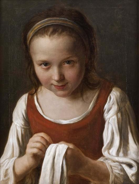 Girl with Needle-work. Pietro Rotari
