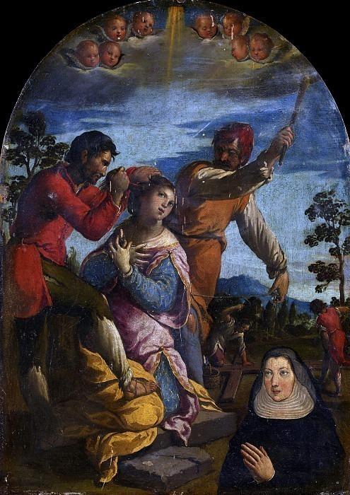 Мученичество молящегося святого и монахини. Камилло (Рицци) Риччи