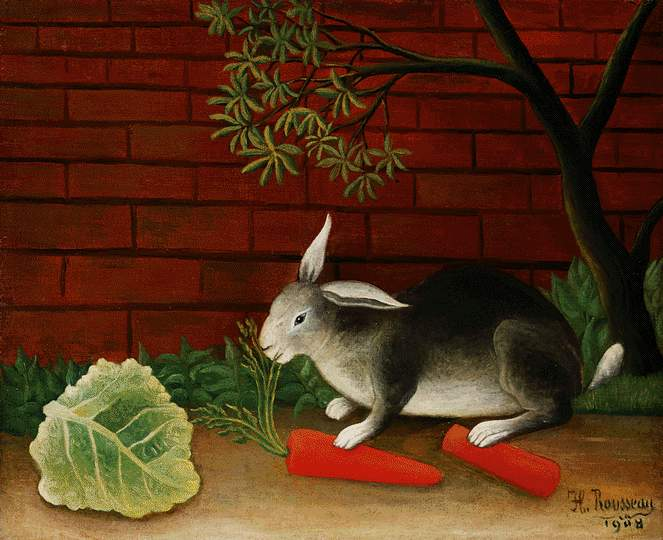 Rousseau,H. The meal of the rabbit, 1908, Barnes foundation. Henri Rousseau