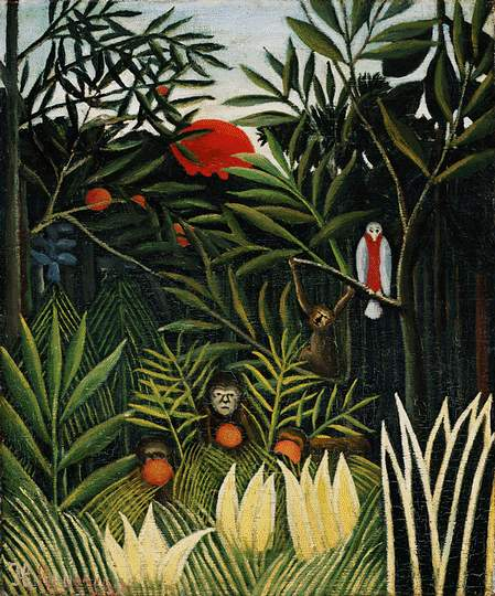 Rousseau,H. Landscape with monkeys, ca 1910, Barnes foundati. Henri Rousseau