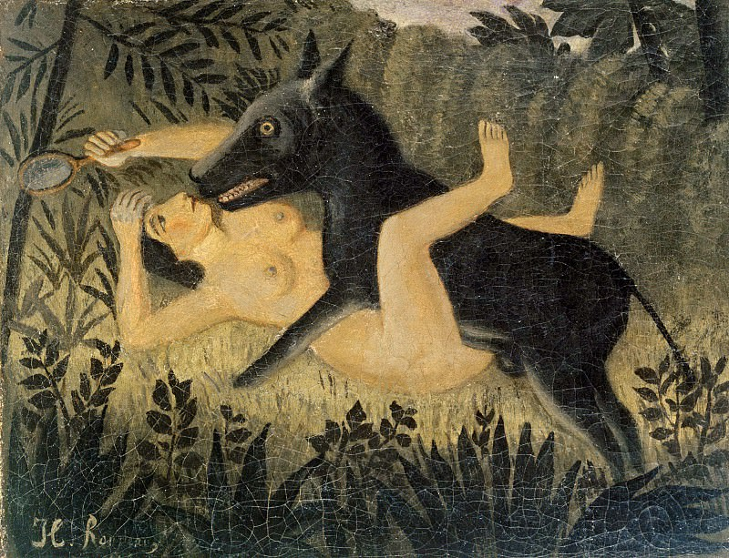 Beauty and the Beast. Henri Rousseau