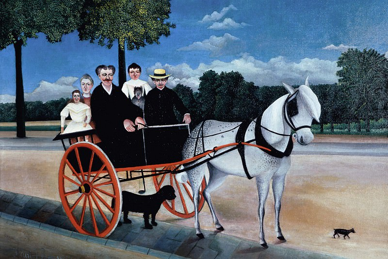 Father Juniers Dog-Cart. Henri Rousseau