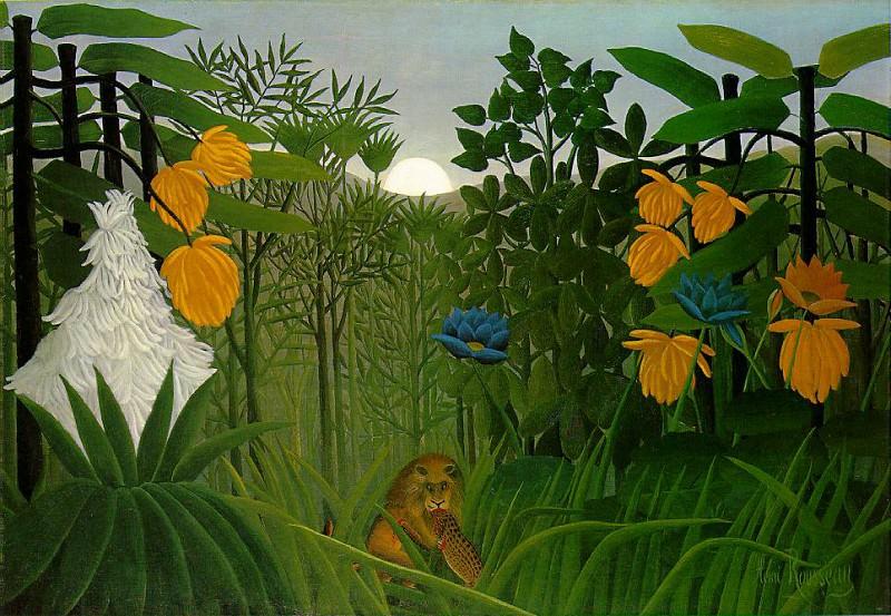 Rousseau,H. The repast of the lion, 1907, 113.7x160 cm, The. Henri Rousseau