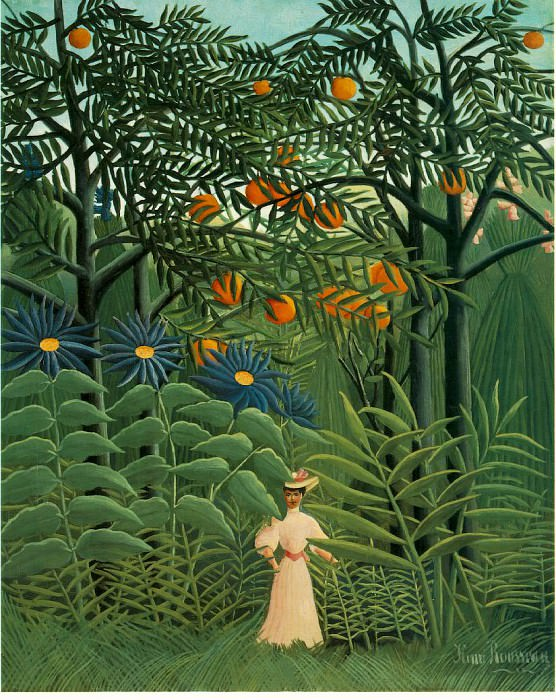 Rousseau,H. Woman Walking in an Exotic Forest (Femme se prom. Henri Rousseau