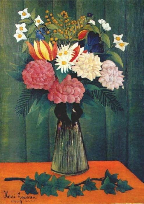 rousseau flowers in a vase 1909. Henri Rousseau