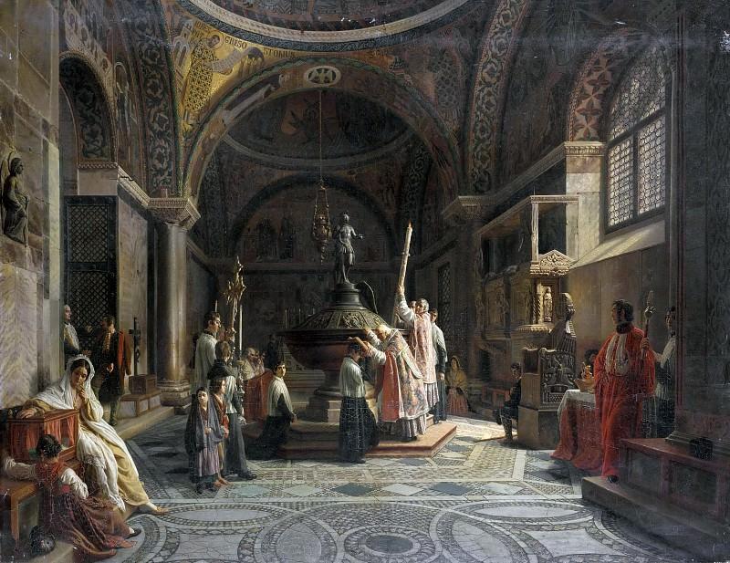 Baptistery of St. Mark in Venice. Aurele Robert