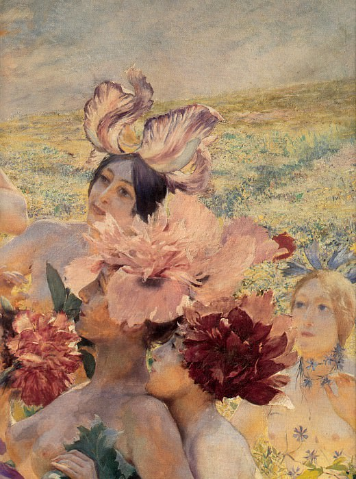 The Knight of the Flowers detail right. Georges Antoine Rochegrosse