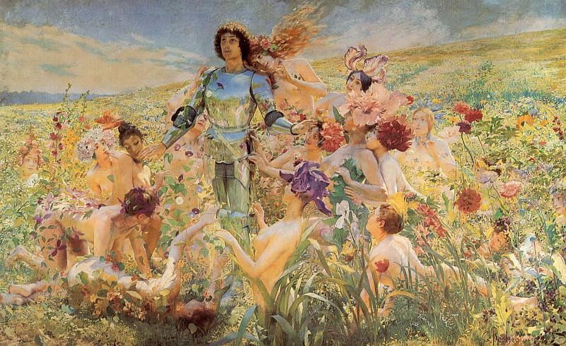 Rochegrosse The Knight of the Flowers. Georges Antoine Rochegrosse