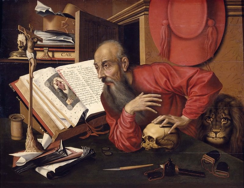 St Jerome. Marinus van Reymerswaele (Workshop of)