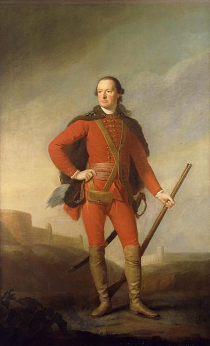 Portrait of Charles, 5th Earl of Elgin and 9th Earl of Kincardine standing full length. Allan Ramsay