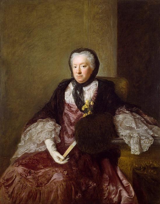 Portrait of Mrs Mary Martin. Allan Ramsay