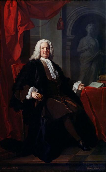 Portrait of Dr. Richard Mead. Allan Ramsay