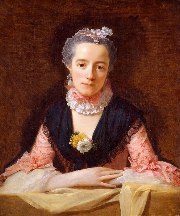 An Unknown Woman in a Pink Dress. Allan Ramsay