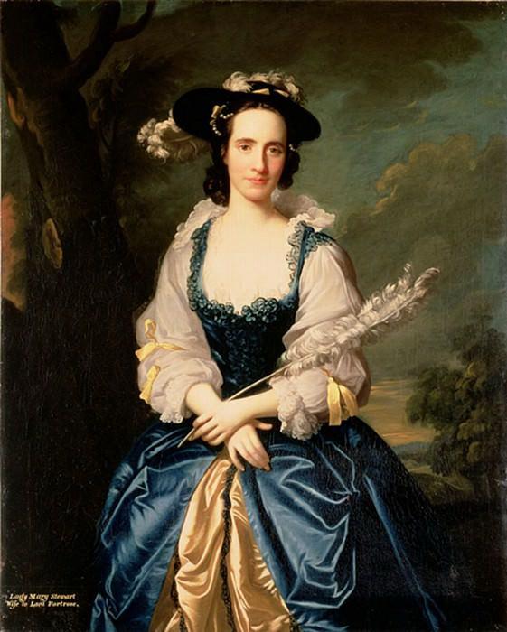 Portrait of Lady Mary Stewart (1720-1751) Wife of Kenneth Mackenzie, Lord Fortrose. Allan Ramsay