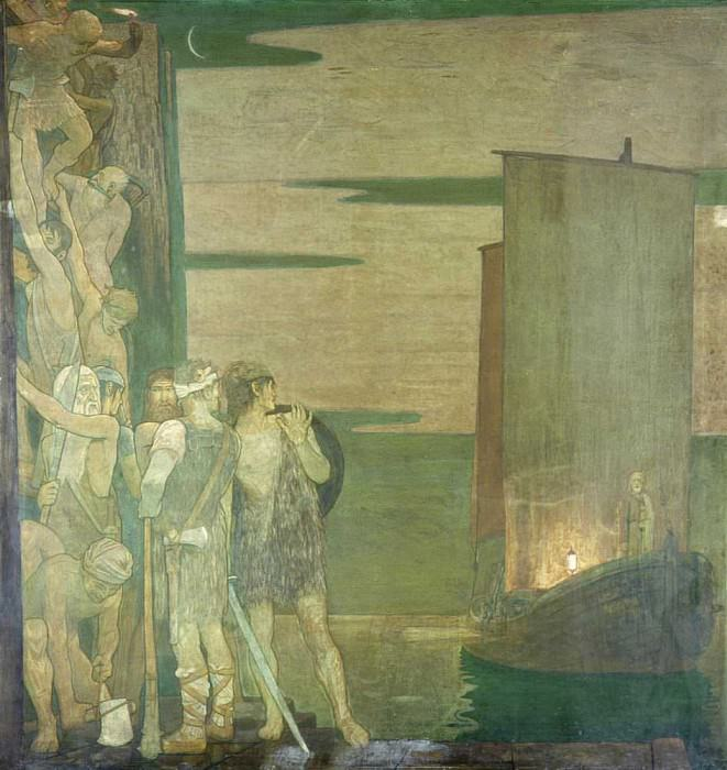 The Landing of St Patrick in Ireland. Frederick Cayley Robinson