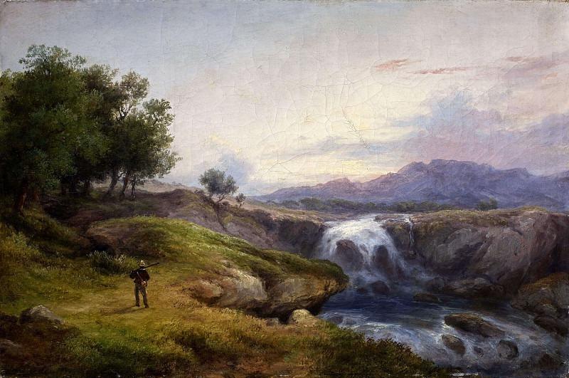 Пейзаж с охотником. Костантино Роза