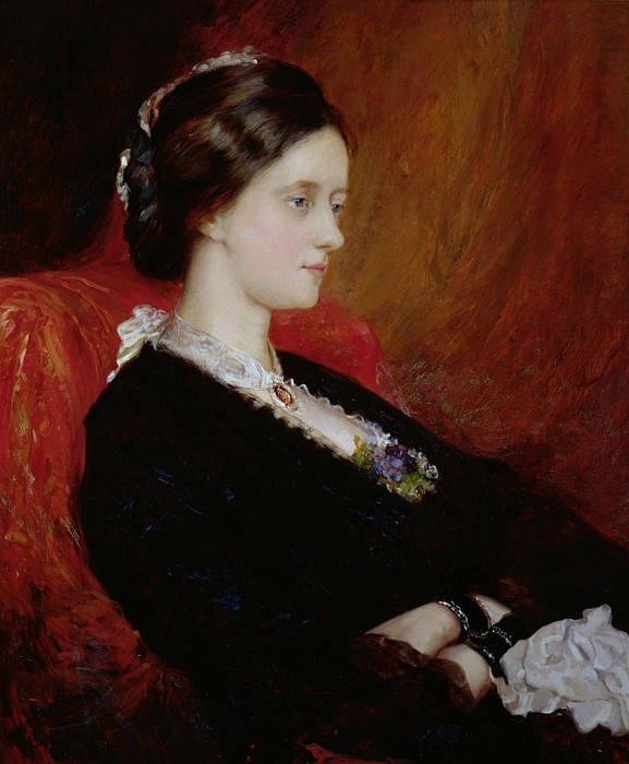 Portrait of The Hon. Mrs Emily Meynell-Ingram (1840-1904). Sir William Blake Richmond