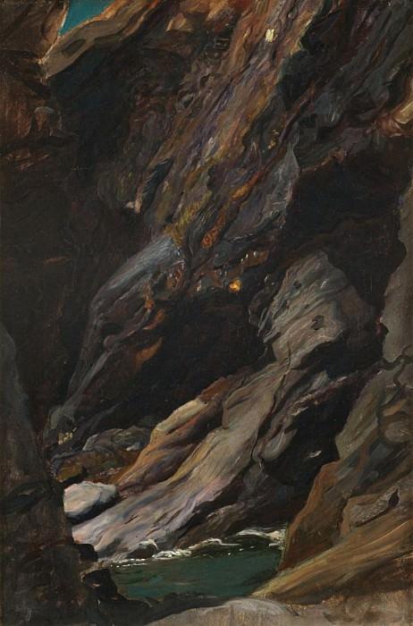 Rocks at Tintagel. Sir William Blake Richmond