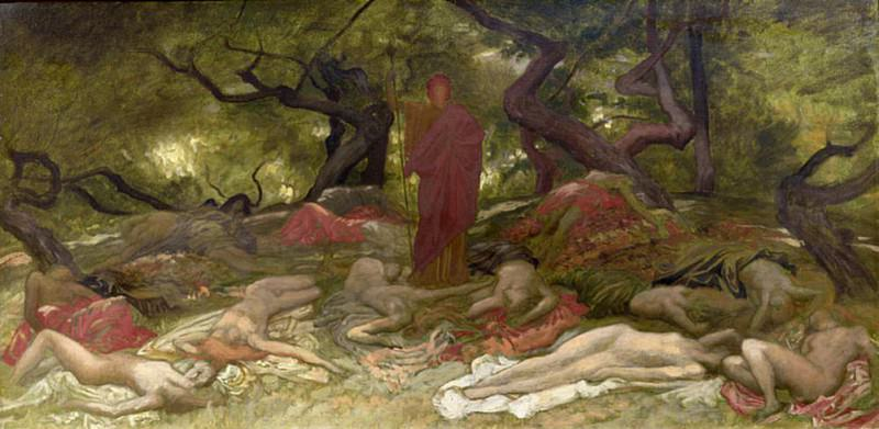 Dionysus and the Bacchantes. Sir William Blake Richmond