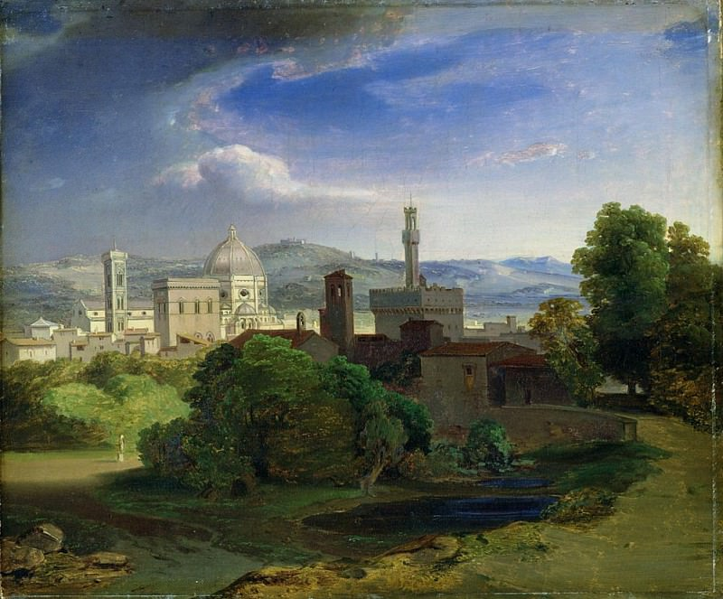 View over Florence. Carl Rottmann