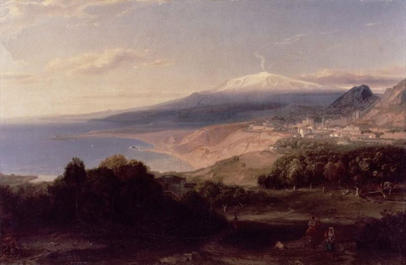 Taormina and Mount Etna. Carl Rottmann
