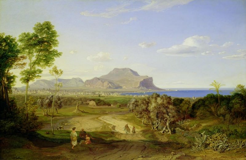 View over Palermo. Carl Rottmann