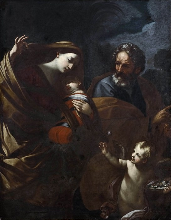 The Flight into Egypt. Guido Reni (After)