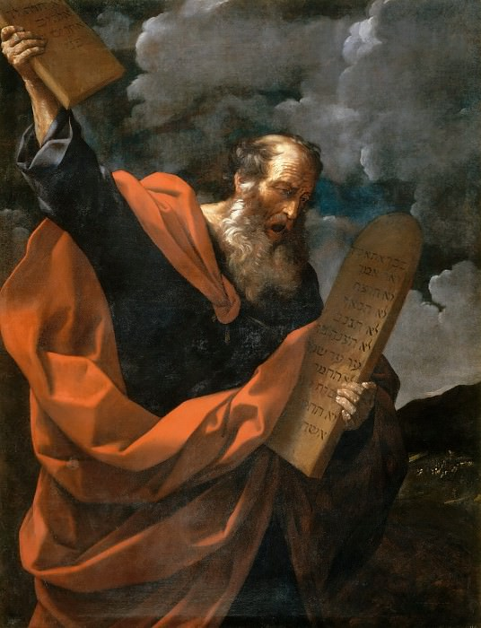 Moses with the Tablets of the Law. Guido Reni