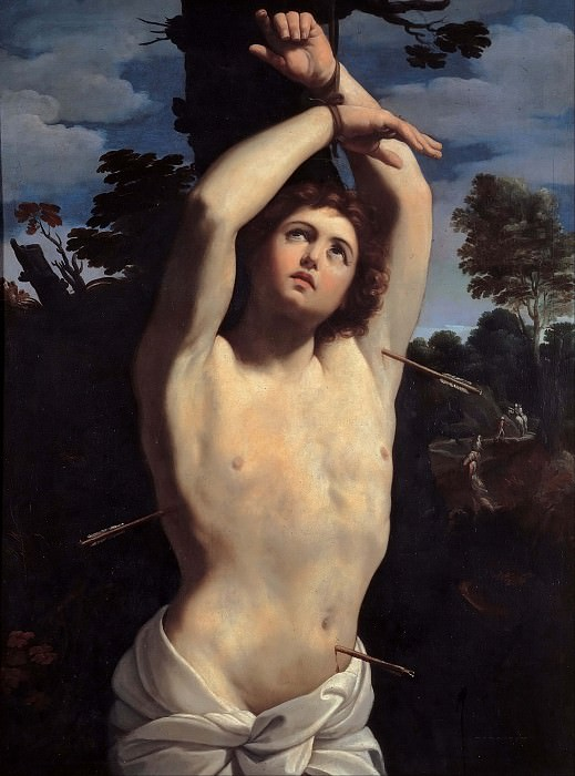 Saint Sebastian. Guido Reni