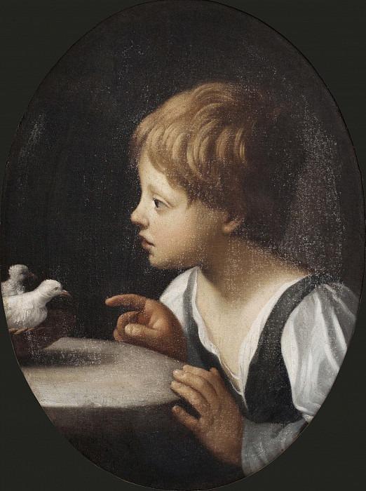 Ребёнок с двумя голубями. Фрагмент из «Очищения Богородицы». Гвидо Рени (Последователь)