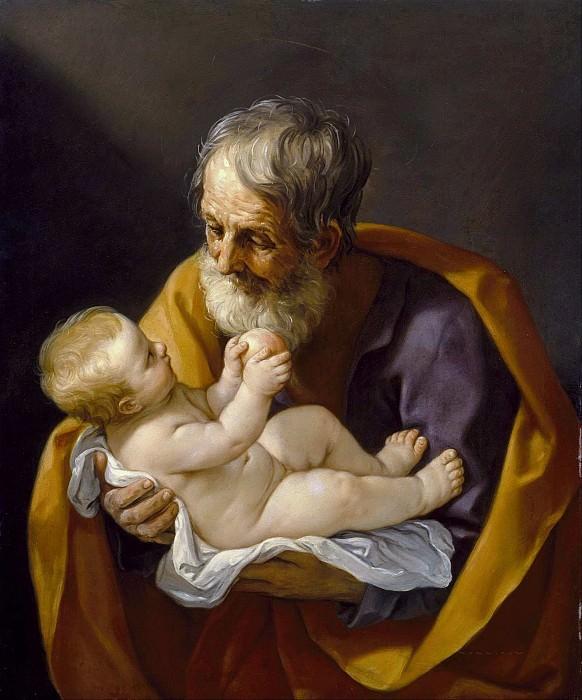 Saint Joseph and the Christ Child. Guido Reni