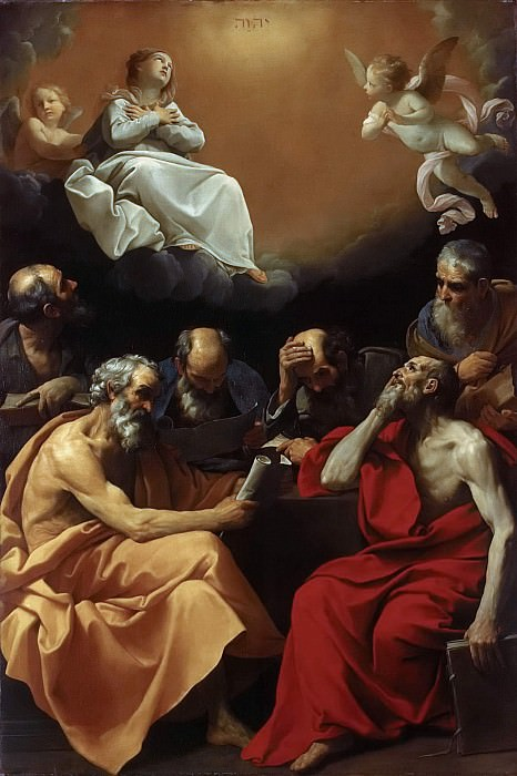 The argument of the church fathers about the Christian dogma of the Immaculate Conception. Guido Reni