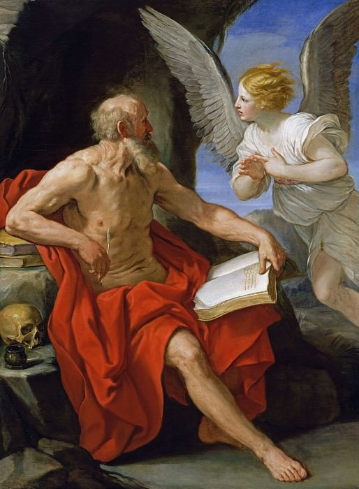 Angel Appearing to St. Jerome. Guido Reni