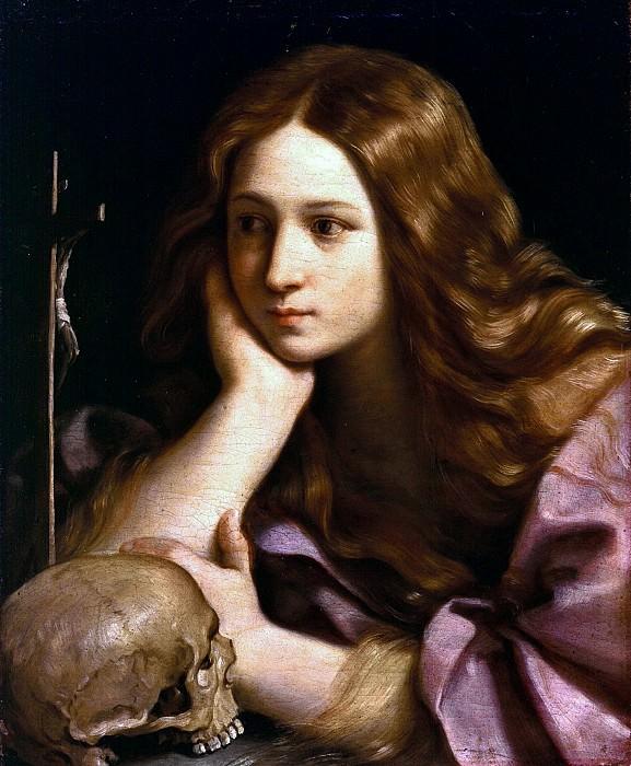 The Magdalen adoring the cross. Guido Reni