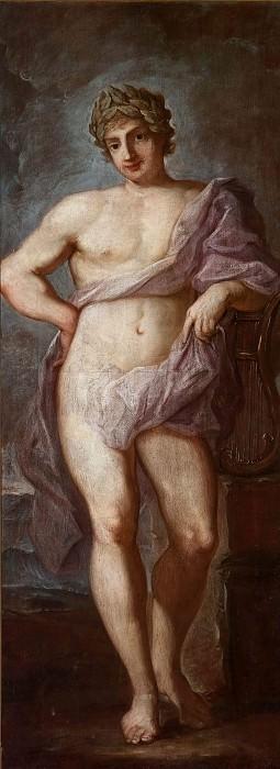 Apollo with laurel wreath. Guido Reni