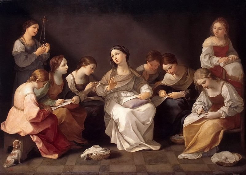 Youth of the Virgin Mary. Guido Reni