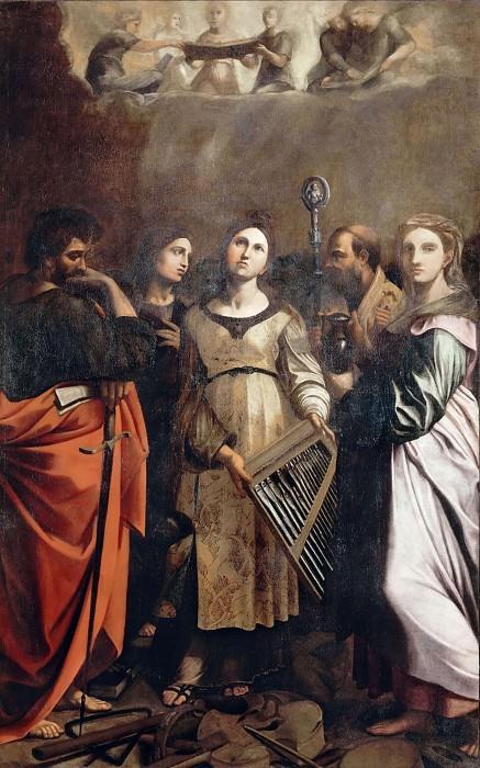Vision of Saint Cecilia. Guido Reni